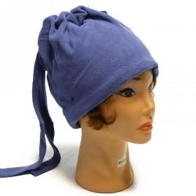 Kék-szürke színű sapka és nyakmelegítő egyben