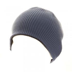 Kék-sötétszürke színű kifordítható sísapka