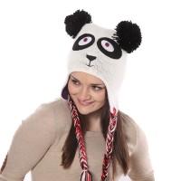 Fülvédős pandamacis sapka