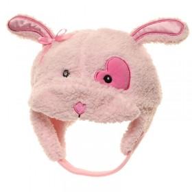 Rózsaszín, nyuszis gyerek sapka