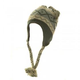 Pomponos fülvédős gyerek sapka, polár béléssel