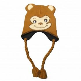 Fülvédős, majmos gyerek sapka